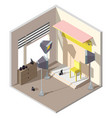 3d isometric photography studio vector image