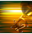 abstract green blur music background with trumpet vector image vector image