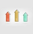 arrow growth cartoon infographics - can vector image vector image