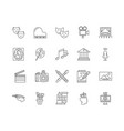 arts line icons signs set outline vector image vector image