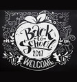 back to school chalkboard with doodles vector image vector image