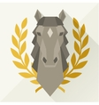 Background with horse head in flat style vector image