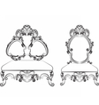 Baroque Royal style furniture vector image vector image