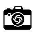 Black camera icon simple style vector image vector image