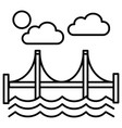 bridgesan francisco line icon sign vector image vector image