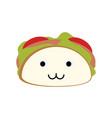 burrito delicious food cute kawaii cartoon vector image