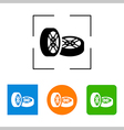 Car wheel icon on white background vector image vector image