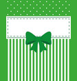 card invitation green vector image