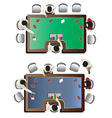 Casino furniture Poker table top view set 5 vector image