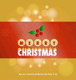 christmas greetings card with chritmas vector image