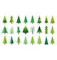 christmas trees sketch a doodle pine tree hand vector image