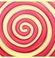 classic lollipop background round red vector image