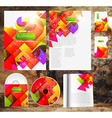 Colorful Abstract Background Template Set vector image vector image