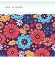 Colorful bouquet flowers horizontal torn seamless vector image