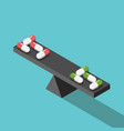 different pills comparison balance vector image vector image