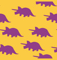 dinosaur triceratops silhouette pattern seamless vector image