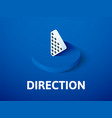 direction isometric icon isolated on color vector image vector image