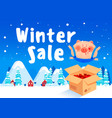 discount poster winter sale vector image