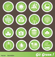 Eco Friendly Icons Set Go Green vector image vector image