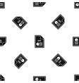 file ppt pattern seamless black vector image vector image