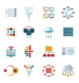 flat filtering data icons vector image vector image
