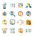 Flat Special Media Icons vector image