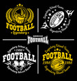 football labels and icons set vector image