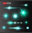 glittering beam of star light effects design vector image vector image
