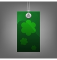 Green price tag with flower vector image