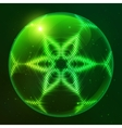 Green shining techno sphere vector image vector image