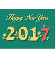 Happy New Year 2017 Numerals with floral decor vector image vector image