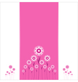 Heart Flowers background or card vector image vector image