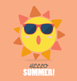 Hello Summer with happy sun vector image