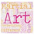 How To Choose A Martial Arts School text vector image vector image