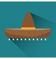 icon hat mexican design vector image vector image
