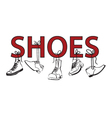 image with text and shoes vector image vector image