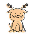isolated cute standing deer vector image