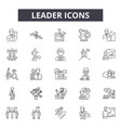 leader line icons signs set outline vector image vector image