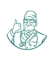 leinart graphics doctor thumb up gesture vector image vector image