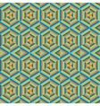 Mosaic different colors geometric shapes of vector image vector image