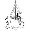 Old icebreaker vector image vector image