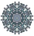 ornament round ornamental geometric doily vector image