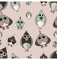 Pastel beige and brown cute owl seamless pattern vector image vector image