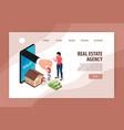 real estate agency website vector image vector image