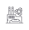 recycling plant line icon concept recycling plant vector image