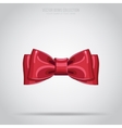 Red bow isolated vector image vector image