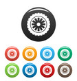 rubber protector icons set color vector image vector image