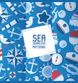 sea adventure set seamless patterns vector image