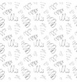 seamless background drawn ink doodle vector image vector image