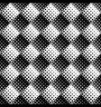 seamless square pattern background - black and vector image vector image